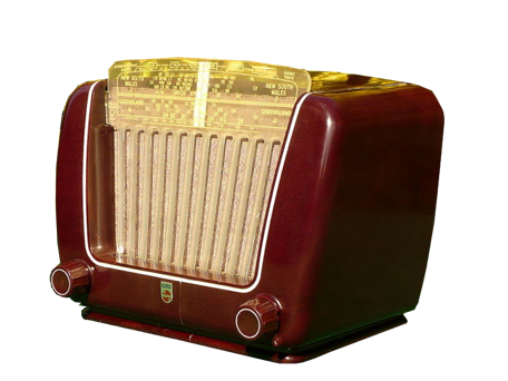Radio 1950 Philips 1950s Maroon Bakelite Philips